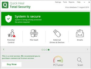 Quick Heal Total Security 12.1.1.31 Crack + Activation Key - [Latest 2022]